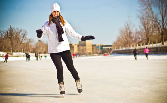 A stylish outdoor skating
