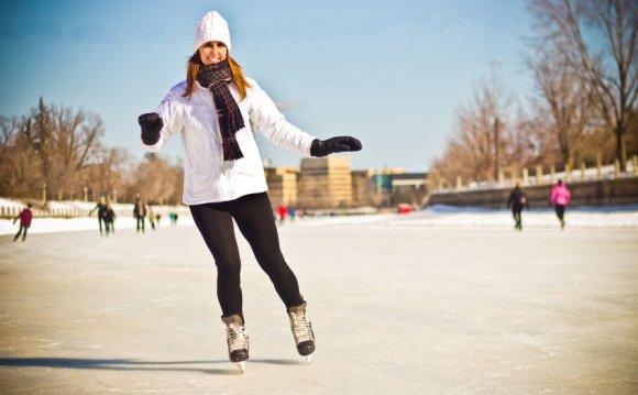 A stylish outdoor skating