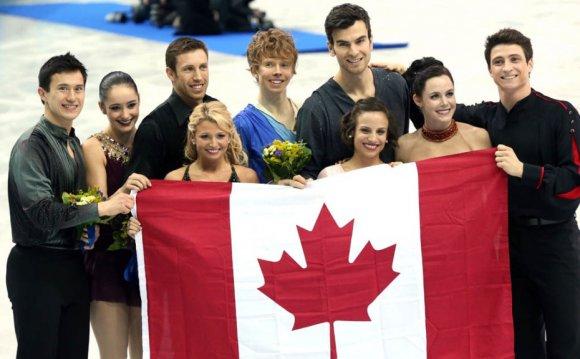 Canada celebrates their silver