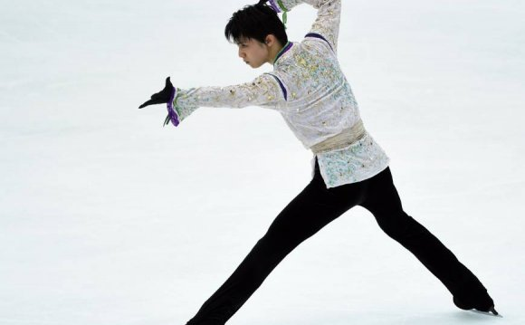 Yuzuru Hanyu performs during