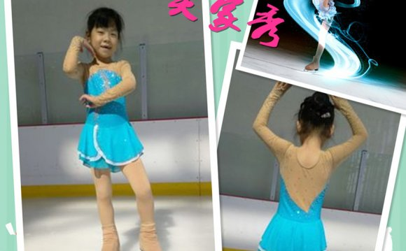 Blue ice skating dresses for