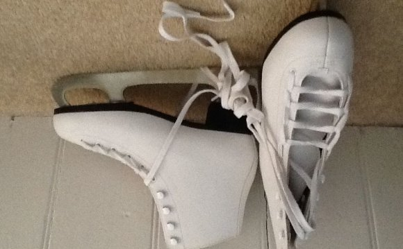 White leather figure skates