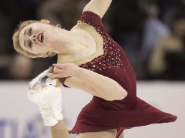 Alaine Chartrand performs her free program during the Canadian figure skating championships in Halifax on Saturday, Jan. 23, 2016.