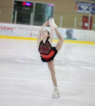 Alyssa Dobbs 12, won a gold medal in the free program in the Intermediate LAdies event at a figure skating competition in Wenatchee on the weekend. - Contributed