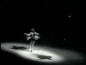 Henie, Sonja: Henie performing a figure skating routine, 1930 [Credit: Stock footage courtesy The WPA Film Library]