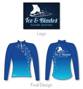 illustration and logo of Ice and Blades new jacket, The Line Up