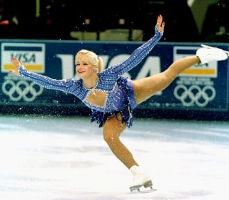 Nicole Bobek is seen here at the U.S. Figure Skating Championships in 1996.