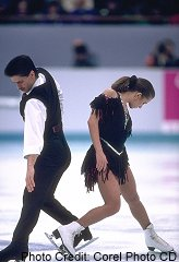 Olympic ice dancers