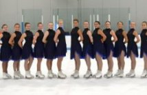 Phoenix Synchronized Skating Intermediate team,  New practice skirt and leotard,  The Line Up