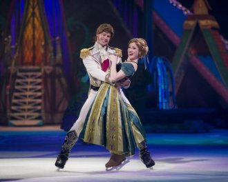 "Prince Hans and Anna in ""Disney On Ice Presents Frozen"""