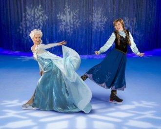 "Sisters on skates: Elsa and Anna ""Disney On Ice Presents Frozen."""