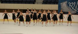 Skyliners novice line, winners of the silver medal. Photo: Contributed / Darien News