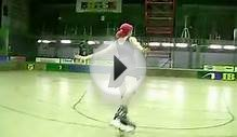 Inline Figure Skating - Waltz jump training