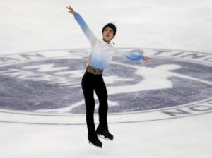 Yuzuru Hanyu of Japan performs during the men's singles short program at the ISU Grand Prix of Figure Skating in Nagano, Japan, on 27 November 2015.